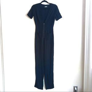 REFORMATION Black Jumpsuit short sleeve